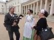 Natáčení rozhovorů na zámku Kačina se soubory historického tance